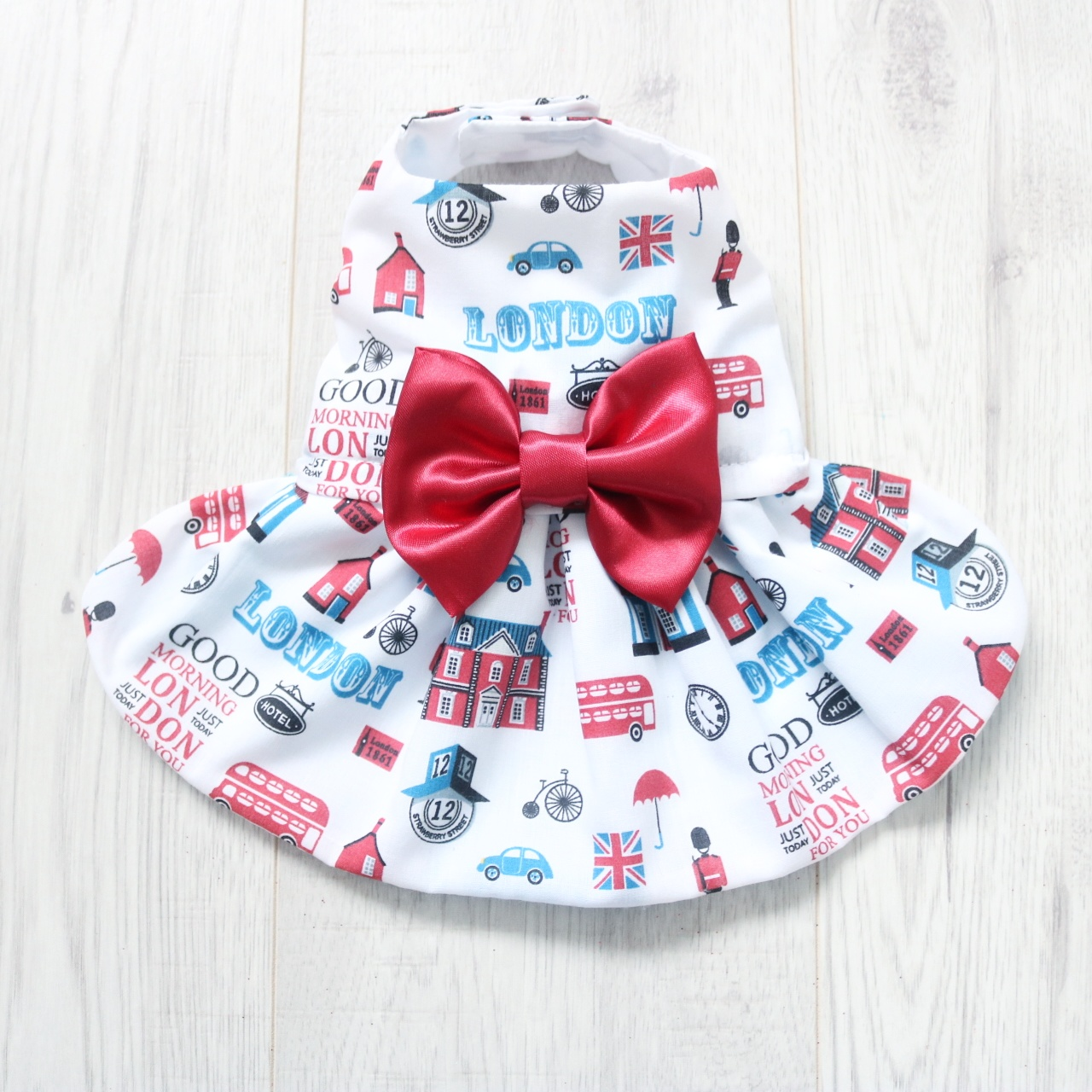 London Print Dog Dress