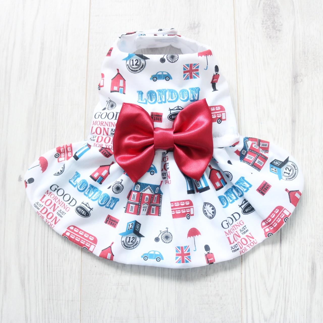 London Print Dog Dress