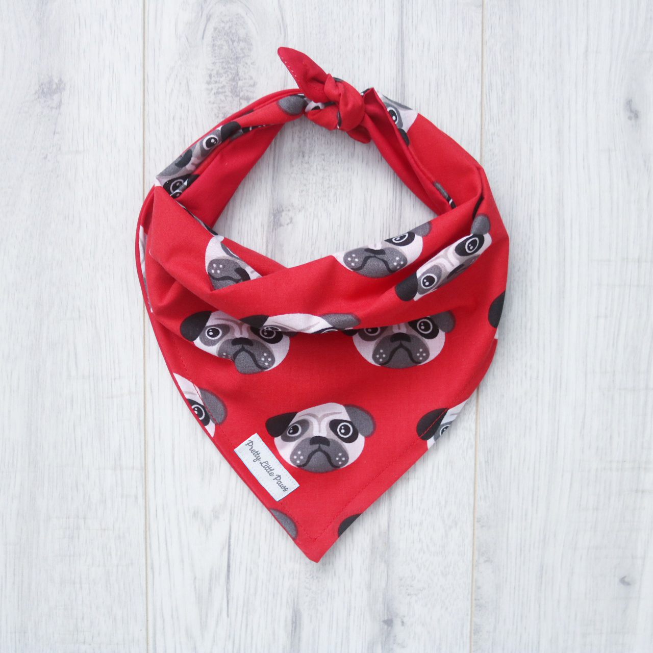 red pug bandana for dogs