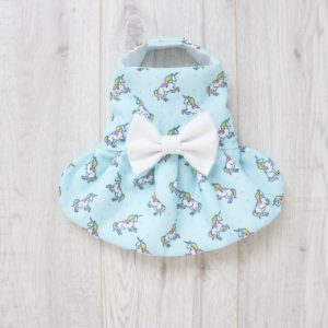 Pale Green Unicorn dog dress