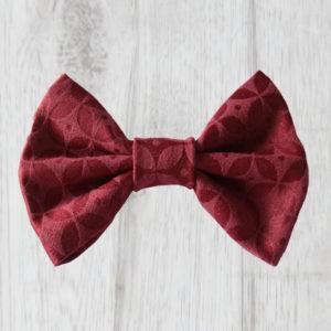burgundy dog bowtie
