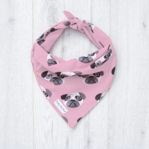 pink pug bandana for dogs