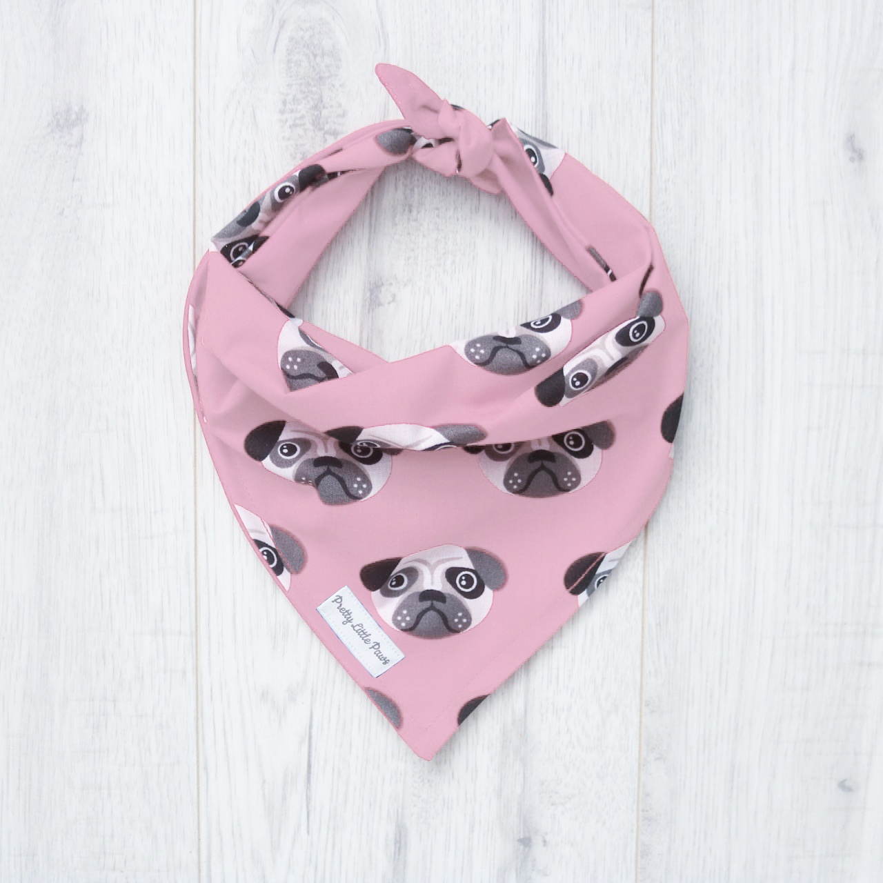 pink pug bandana for dogs