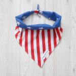 dog bandana with stars and stripes design