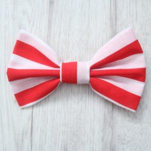 red stripe dog bow tie